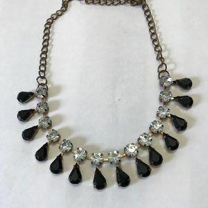 Vintage black statement necklace